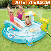 79 Kids Inflatable Swimming Pool Blow Up Children Family Yard Play Center Pool