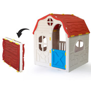 Ram Quality Products Kidand039s Cottage Foldable Plastic Toddler Outdoor Playhouse