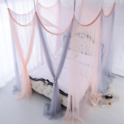 8 Doors Curtain Bed Canopy Mosquito Net Double Colors Princess Curtain Tent