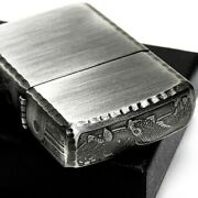 Zippo Armor Silver Antique Finish Carp Streamer 3 Side Carving Limited Brand-new
