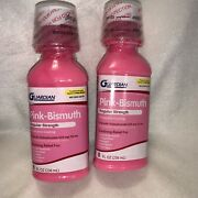 Guardian Pink Bismuth. Regular Strength. 8 Oz Soothes Indigestion Stomach Relief