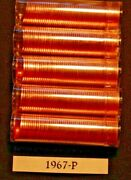 5 Rolls Of 1967-p Lincoln Memorial Cent Rolls Bu To Gem Dealer Inventory