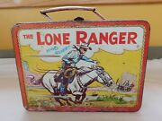 Vintage 1954 The Lone Ranger By Adco Lunch Box. No Thermos.