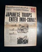 Pearl Harbor Prelude Japanese Invasion Of French Indochina 1941 Wwii Newspaper
