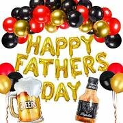 Happy Fatherand039s Day Party Decorations Set With Beer Whisky Balloon Garland Banner