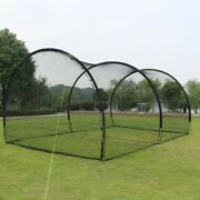 Portable Batting Cages Baseball Softball Fully Enclosed Or 1 Side Can Be Open