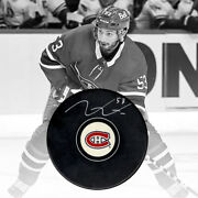 Victor Mete Autographed Montreal Canadiens Puck Rgs