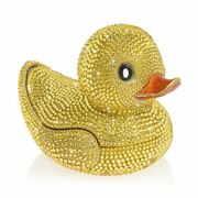 Jay Strongwater Ernie - Pave Rubber Ducky Box 14k Gold Sdh7409-204