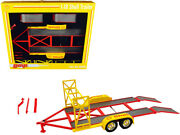 Tandem Car Trailer With Tire Rack Shell Oil Yellow 1/18 Diecast Model By Gmp