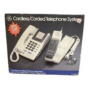 Ge Deluxe Cordless/corded Telephone System Vintage New In Box Home Office