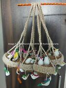 Indian Vintage Hand Crafted Car Door Hallway Wall Hanging Dream Catcher 5pc Lot