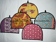Indian Kantha Embroidered Floral Tea Pot Cozy Handmade Cover Decorative 50pc Lot