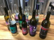 Case Of Used Assorted Wine Bottles With Labels