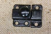 Old Cabinet Catch Cupboard Latch Rustic Vintage Screws Black On Tin 1 5/8andrdquo Small