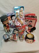 Betty Boop Collectible Tins, Figurines, Candy, Shot Glass, And Others
