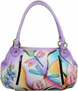 Anna By Anuschka Leather Womenandrsquos Ruched Hobo Shoulder Satchel