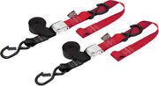 Powertye Black/red 1 1/2in. Cam-buckle With Safety Latch Hooks And Soft-tye