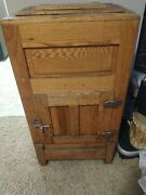 1900s Antique Oak Ice Box Great Shape Free Drop Off Or Delivery Up 200 Miles
