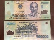20m 500000 Vietnamese Dong 40x 500000 Genuine Polymer Circulated Bank Note