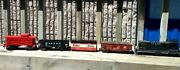 Vintage Lot Of Lionel Flyer Scale Plastic Train Cars Caboose Wabash Atandsf Cbandq