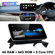 12.3 Car Gps Stereo Player Touch Screen For Mercedes Benz C Class 2011-2014 Rhd