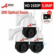 Anran Security Camera System Wireless Outdoor 2way Audio 20xzoom Pan/tilt 64g Hd