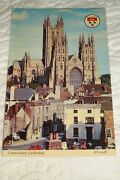 Vintage Postcard England Stamp Posted Canterbury Cathedral