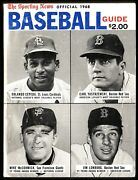 1968 Sporting News Official Baseball Guide W/mvps And Cy Young Winners On Cover