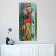 Sexy Woman In Red Dress 3 Dimensional Painting Home Office Decoration Decor Deal