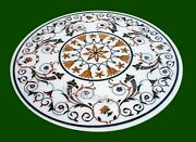 42x42 Inch Marble Dining Table Top Marquetry Art Sofa Table From Cottage Art