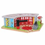 Bigjigs Rail Wooden Five Way Engine Shed - Other Major Rail Brands Are Compat...