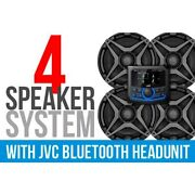 4 Speaker Plug-and-play Kit W Jvc Mr1 Receiver And A6 Speakers And Backup Camera