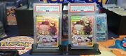 2019 Sequential Psa10 English And Japanese Cynthia And Caitlin Tag Team Trainer