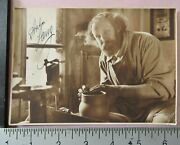 Orig C.1920 Famous German Actor And Potter Anton Lang Autographed 5x7 Photo
