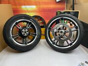 🔥genuine 09-21 Harley Touring Enforcer Wheels Rims 19 Front And 16 Rear Oem🔥
