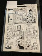 Original Comic Book Art Splash Page Dc Booster Gold Issue 4 Page 28