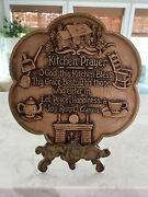 Vintage Universal Statuary Corp My Kitchen Prayer Wall Hanging Sign Plaque Decor