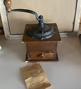 1950s Woodcroftery Coffee Grinder Cast Iron And Wood