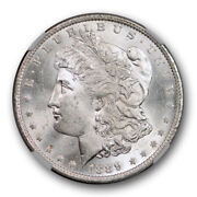 1889 O 1 Morgan Dollar Ngc Ms 64+ Uncirculated Cac Approved Blast White Nice