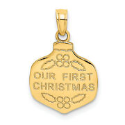 14k Our First Christmas Ornament Charm D4242