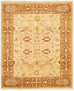 Hand-knotted Carpet 8and0392 X 9and0399 Traditional Vintage Wool Rug