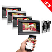 Tmezon Wifi Video Doorbell Ip Doorphone Entry Intercom System 7and039and039 Lcd Monitor