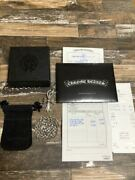 Invoice Original Receipt Included Chrome Hearts Small Cross With Bail Paper