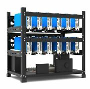 New 12 Gpu Stackable Open Air Mining Case Computer Rig Frame Btc Ethereum Case