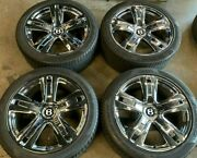 Bentley Continental Gt Gtc Flying Spur Factory 20 Wheels Tires Rims Oem Chrome