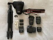 Canon Eos 70d Body With Lens And Accessories