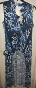 Ashley Stewart 14/16 Blue Black And White Hi-lo Top. Womenand039s. New With Tags