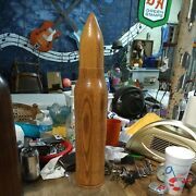 Vintage Artillery Shell Wood Decor--large And Beautiful--3 Different Shells