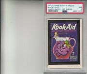 1973 Topps Wacky Packages Kook-aid White Back 1st Series Psa 7