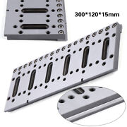 1x 300x120x15mm Wire Edm Fixture Board Jig Clamping Tool For Clamping And Leveling